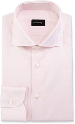 Ermenegildo Zegna Micro-Gingham Dress Shirt, Pink