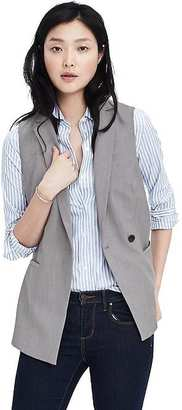 Lightweight Wool Tailored Vest $118 thestylecure.com