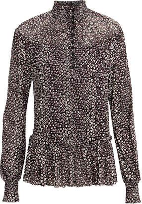 2000c680dd9bf Diane von Furstenberg Cecily Animal Print Blouse