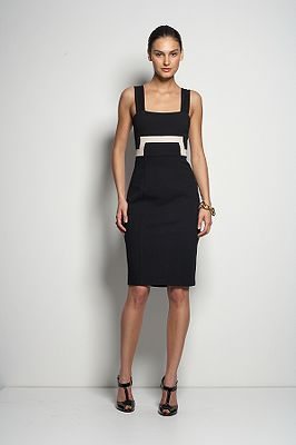 Tai Dress in Black & Ivory