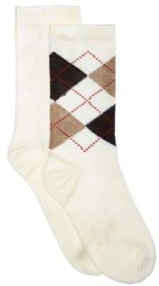 Hue Women's 2-Pk. Solid & Argyle Boot Socks