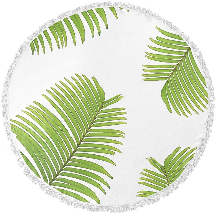 Kavka Designs Palm Breeze Round Beach Towel