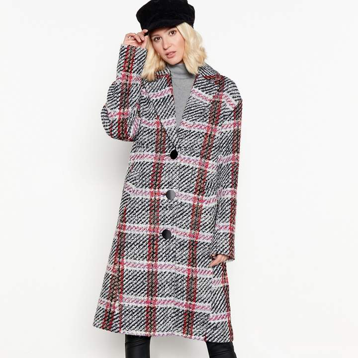 Nine by Miller - Multi-Coloured Check Longline Coat