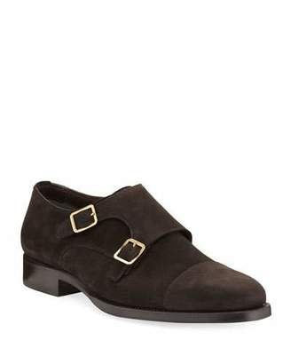 Tom Ford Wessex Suede Double-Monk Shoe