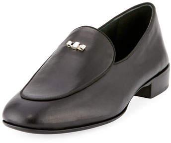 Giuseppe Zanotti Men's Mini-Bow Tie Leather Loafer