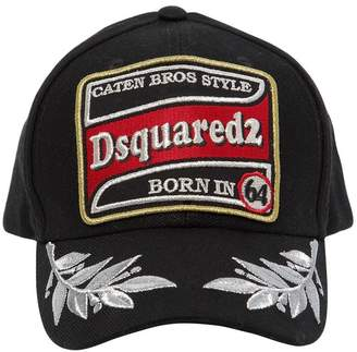 DSQUARED2 Patch & Embroidery Cotton Baseball Hat