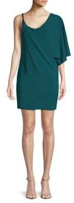 Halston One-Shoulder Shift Dress