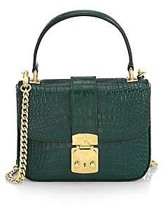 Miu Miu Women's Cocco Crocodile-Embossed Leather Crossbody Bag