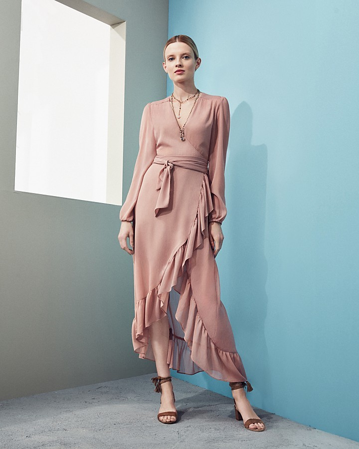 WAYF Only You Ruffle Wrap Dress - 100% Exclusive 2