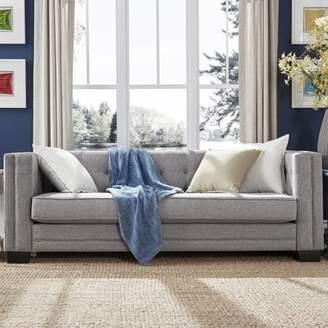 Weston Home Chelsea Lane Tufted Sofa, Gray Linen