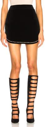 Saint Laurent Studded Velvet Mini Skirt in Black | FWRD