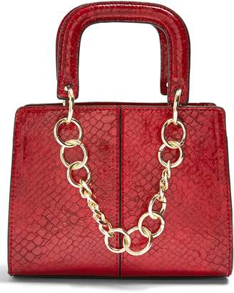 Topshop Case Chain Detail Faux Leather Crossbody Bag