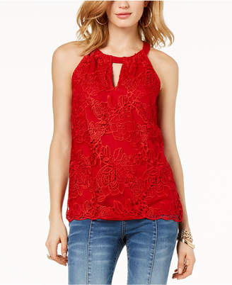 INC International Concepts I.n.c. Petite Lace Keyhole Top, Created for Macy's