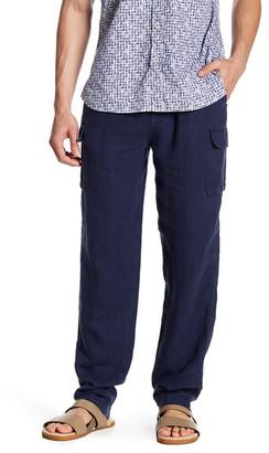 Toscano Linen Drawstring Cargo Pant $98 thestylecure.com