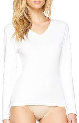 Playtex Womens 04AM Long Sleeve T - Shirt - White - (S)
