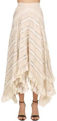 Zimmermann Chevron Lace Long Skirt