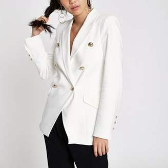 River Island White double breasted tux style jacket