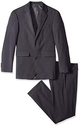 Louis Raphael Men's Two Button Side Vent Flat Front Slim Fit Suit