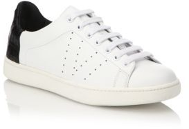 Vince Varin Leather & Croc-Embossed Sneakers $295 thestylecure.com