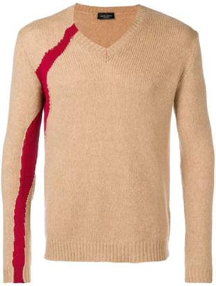 Roberto Collina side stripe sweater