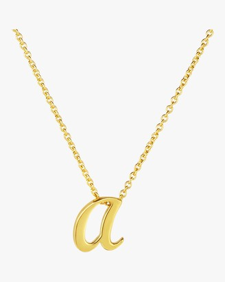 Roberto Coin Gold Letter Pendant Necklace