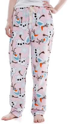 Juniors' Frozen Olaf Plush Pajama Pants