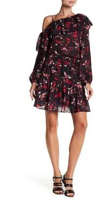 Parker Asymmetric Sleeve Dress