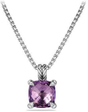 David Yurman Châtelaine Pendant Necklace With Amethyst And Diamonds,