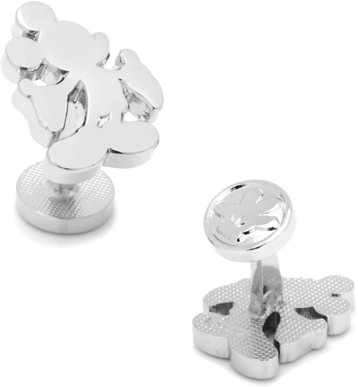 Disney Disney Mickey Mouse Silhouette Silver-Tone Cuff Links