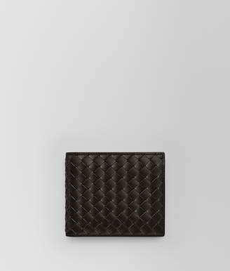 Bottega Veneta ESPRESSO INTRECCIATO COIN PURSE BI-FOLD WALLET