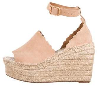 Chloé Scalloped Espadrille Sandals