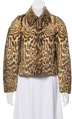 Chloé Animal Print Cropped Jacket