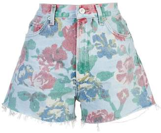 Citizens of Humanity floral print denim shorts