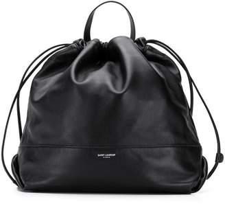 Saint Laurent logo drawstring backpack