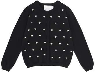 Dolce & Gabbana Crystal Heart Cardigan