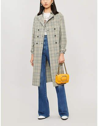 BA&SH Isor checked cotton coat