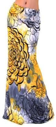 WOCACHI Women Skirts 2018 Summer Hot Boho Long Maxi Dress Beach Waist Skirt Sundress