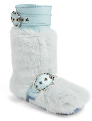 Women's Miu Miu Faux Fur Buckle Boots