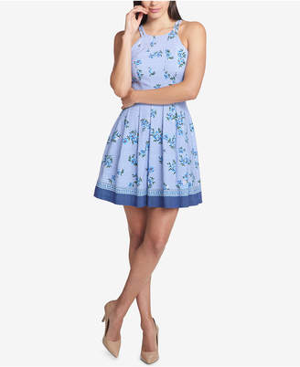 GUESS Floral-Printed Fit & Flare Dress