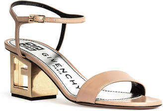 Givenchy Beige Leather Triangle Sandal