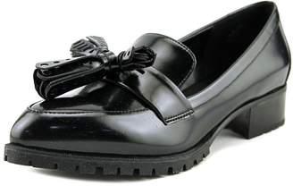 Nine West Womens Leonda Leather Almond Toe Loafers