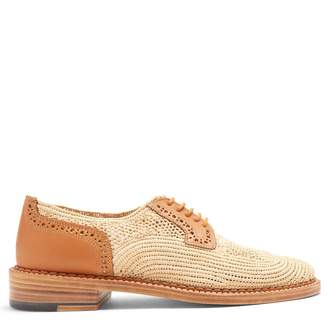 CLERGERIE Jeanine lace-up raffia shoes