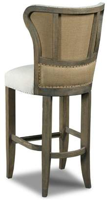 Hooker Furniture Ina French Country Linen Wingback Bar Stool
