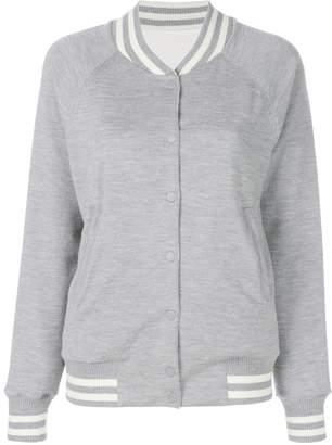 Karl Lagerfeld reversible knit bomber jacket