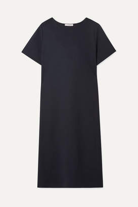 The Row Rory Oversized Stretch-wool Crepe Midi Dress - Navy