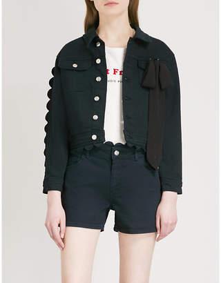 Claudie Pierlot Scalloped denim jacket