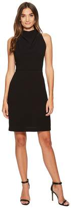 Maggy London 30s Crepe Fit Flare with Lace Back Detail Women's Dress