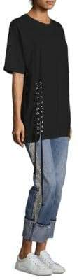 KENDALL + KYLIE Oversized Lace-Up Tee