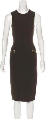 Michael Kors Zip-Accented Virgin Wool Dress