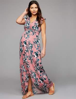 Splendid Faux Wrap Maternity Maxi Dress
